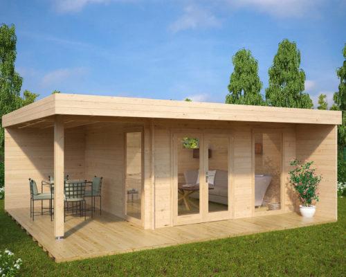 Gartenhaus-mit-terrasse-Hansa-Lounge-XL